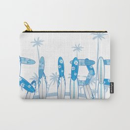 surf lettering with palms Carry-All Pouch