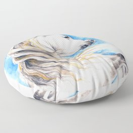 White Andalusian Floor Pillow