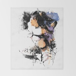 Shibari - Japanese BDSM Art Painting #7 Throw Blanket