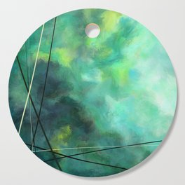 Crossed Green - Abstract Art Cutting Board