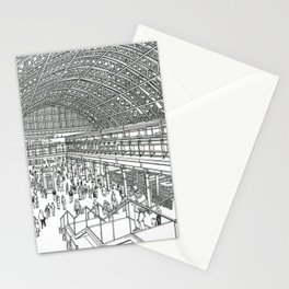 St Pancras railway station Stationery Cards