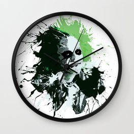 Beetlejuice Splatter Design Wall Clock