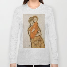 """Egon Schiele """"Mother and Child"""" Long Sleeve T-shirt"""