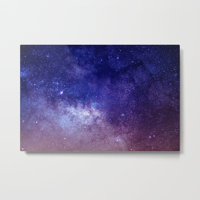 STARS - NIGHT - GALAXY - PURPLE - PINK - INDIGO Metal Print