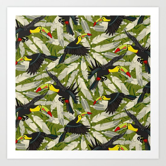 toucan jungle Art Print
