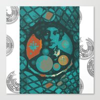 eugenia loli Canvas Prints featuring Eugenia by Wickersham Studios