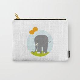 An Elephant With a Peanut Balloon Carry-All Pouch