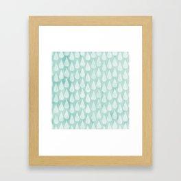 Big Drops Blush Blue Framed Art Print
