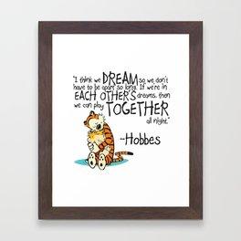 Calvin and Hobbes Dreams Framed Art Print