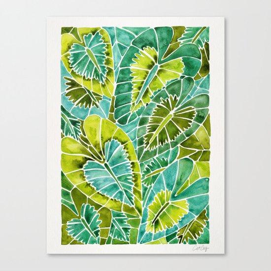 Schismatoglottis Calyptrata – Green Palette Canvas Print