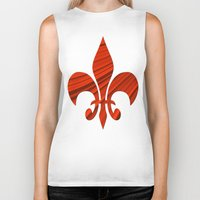 renaissance Biker Tanks featuring Renaissance Red by Charma Rose