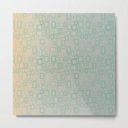Retro Aqua pattern Metal Print