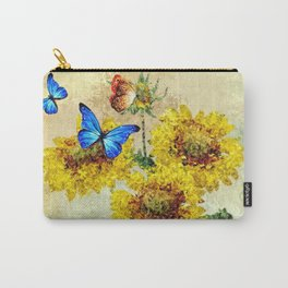 Summer Flowers and Butterflies Carry-All Pouch