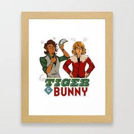 Vintage Tiger & Bunny Framed Art Print