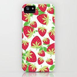 Sweet strawberries pattern iPhone Case