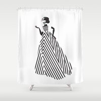 dress Shower Curtains featuring Dress by Yordanka Poleganova