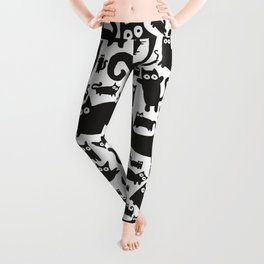 Cute heart made from cats Leggings