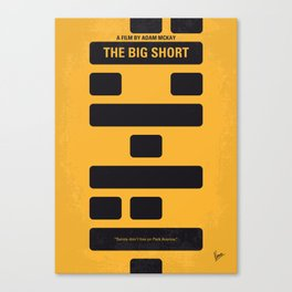 No622 My The Big Short minimal movie poster Canvas Print