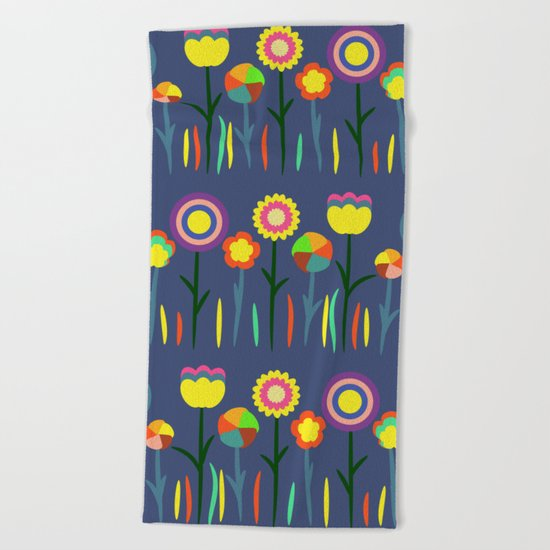 Happy flowers in spring II Beach Towel