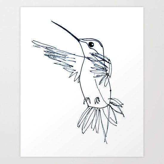 Hummingbird B Art Print