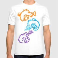 Crayon Love: Dragons White MEDIUM Mens Fitted Tee