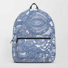Paisley Navy Mirrorred Backpack