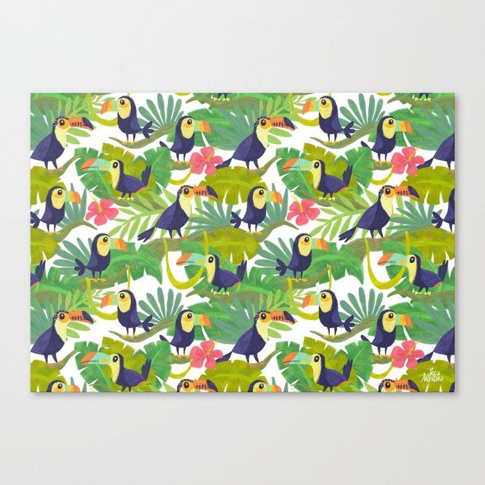 Toucan Paradise Pattern Canvas Print