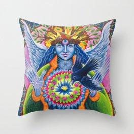 Estrella de la Luz - Angel of New Beginnings Throw Pillow
