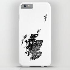 Typographic Scotland European map art Slim Case iPhone 6s Plus