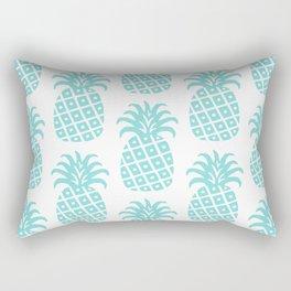 Retro Mid Century Modern Pineapple Pattern 731 Turquoise Rectangular Pillow