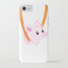 Happy piggy in a sling iPhone Case