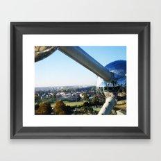 Belgium - Atomium Framed Art Print