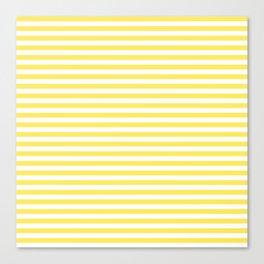 Lemon yellow retro stripes Canvas Print