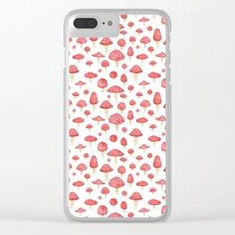 Amanita Mushrooms Clear iPhone Case