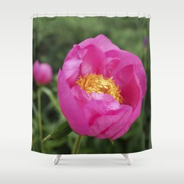 Peony Firelight - glowing pink petals Shower Curtain