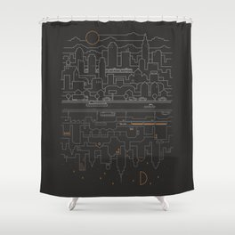 City 24 Shower Curtain