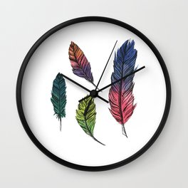 Four Feathers Wall Clock