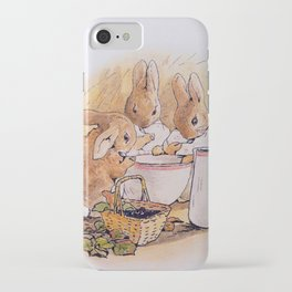 Peter Rabbit with his parents iPhone Case