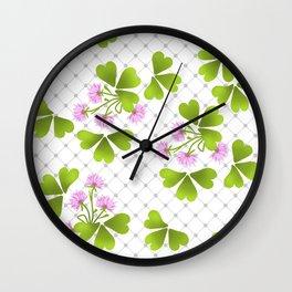 Field clover Wall Clock