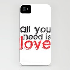 All you need is love Slim Case iPhone (4, 4s)
