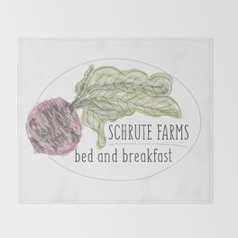 schrute b&b Throw Blanket