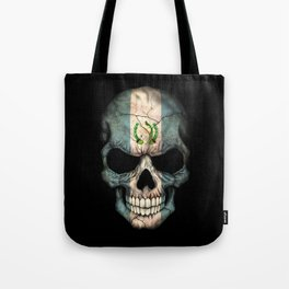 Dark Skull with Flag of Guatemala Tote Bag