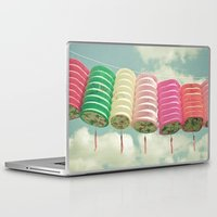 chinese Laptop & iPad Skins featuring Chinese Lanterns by Cassia Beck