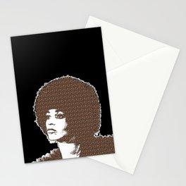 Angela Davis - Black Background Stationery Cards