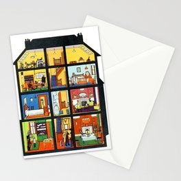 Vintage Doll House Stationery Cards