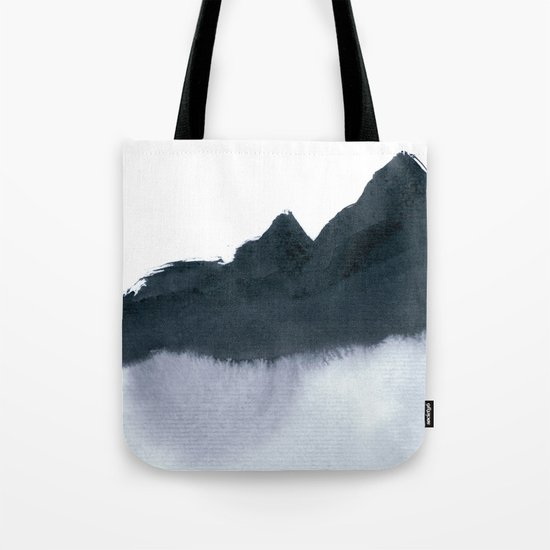 mountain scape minimal Tote Bag