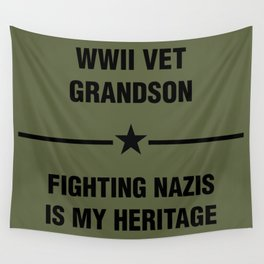 WWII Grandson Heritage Wall Tapestry