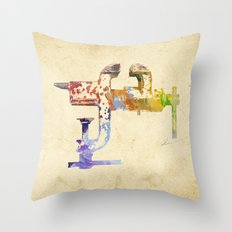 Industrial Clamp Throw Pillow