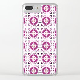 Flamingo Talavera Tiles Clear iPhone Case