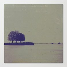 The trees at the end of the pier Canvas Print